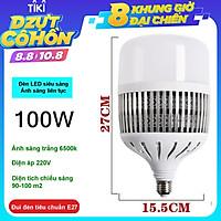 Bóng đèn Led Bulb 50w, 80w, 100w, 150w đui E27, tản nhiệt NHÔM, ánh sáng trắng, dùng cho chụp ảnh, quay phim,  live stream