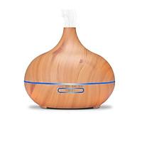 Máy khuếch tán tinh dầu giọt nước lớn gỗ vàng Kobi FX2022 + tinh dầu sả chanh + tinh dầu cam ngọt Kobi (10ml x2)