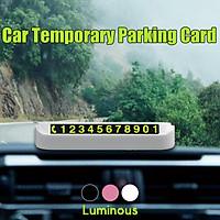 Temporary Parking Phone Number Card Luminous Night Hidden Drawer Car Vehicle