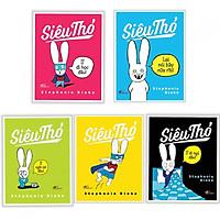 Combo Sách Thiếu Nhi Ngộ Nghĩnh: Siêu Thỏ + Ứ Đi Học Đâu! + Lại Nói Bậy Nữa Rồi! + Ứ Ngồi Bô Đâu! + Ứ Đi Ngủ Đâu! (Bộ 5 cuốn/ Tặng kèm bookmark Happy Life)
