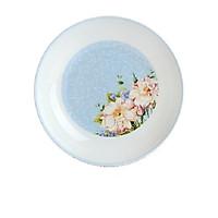 Đĩa tròn sâu xanh có hoa 2184DS
