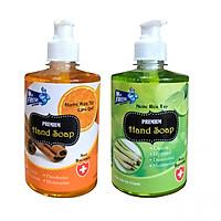 Combo 2 chai nước rửa tay Hand Soap 500ml Hương Cam Quế Và ,Xả Chanh
