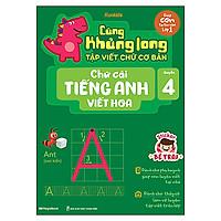 Cùng Khủng Long Tập Viết Chữ Cơ Bản - Chữ Cái Tiếng Anh Viết Hoa - Quyển 4 - Sticker Bé Trai