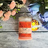 Nến thơm lọ thủy tinh hoa hồng không khói Ecolife - Aroma Candles Rose Jar