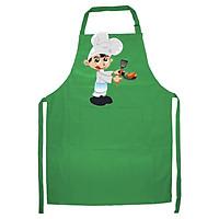 Tạp Dề Làm Bếp In họa tiết quý ông vào bếp