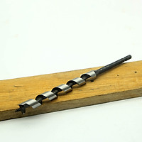 Mũi khoan gỗ xoắn ốc phi 15mm đầu auger dài rãnh 135mm chuôi lục Nhật Bản