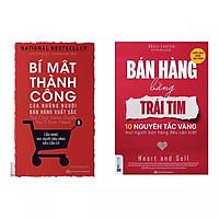 Combo  2 cuốn sách kĩ năng bán hàng: Bán Hàng Bằng Trái Tim - 10 Nguyên Tắc Vàng Mọi Người Bán Hàng Đều Cần Biết  +  Bí Mật Thành Công Của Những Người Bán Hàng Xuất Sắc ( Tặng kèm Bookmark Happy Life )
