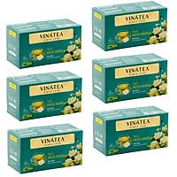 Combo 06 hộp Trà Vinatea - Trà Hoa Nhài Túi Lọc (6 hộp*50 g)