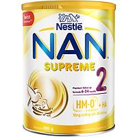 Sản phẩm dinh dưỡng công thức Nestlé NAN SUPREME 2 lon 800g (CÔNG THỨC BỔ SUNG 2HM-O)