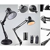 Đèn để bàn và làm việc kiểu dáng Pixar tặng kèm kẹp bàn (đen) - GDHN Loại Tốt