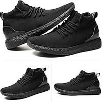 Giày Sneaker Nam Cao Cổ Chất Liệu Thời Trang Pettino KS03 Màu Đen