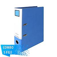 Combo 5 File đựng tài liệu A4-S 7cm - KING JIM 2695GSV cao cấp