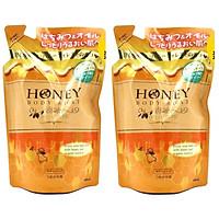 Bộ 2 sữa tắm trắng da tinh chất mật ong và sữa tươi Nhật bản HONEY BODY SOAP MILK IN TYPE ( 400ML) DẠNG TÚI