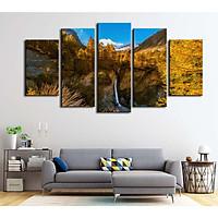Bộ 5 tranh canvas treo tường phong cảnh dãy núi Alps Pháp - B5T007