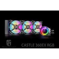 Bộ tản nhiệt cho CPU Deepcool Castle 360EX RGB - Hàng Chính Hãng