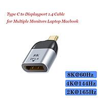 Portable USB C to DisplayPort 1.4 Adapter Converter 8K 60Hz for  Pro