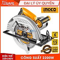 Máy cưa đĩa tròn INGCO CS2358 kèm theo 1 lưỡi cưa TCT 60T, công suất 2200W, tốc độ không tải 3800rpm - Chính hãng