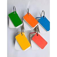 Bộ thẻ ghi nhớ Flashcard 500 thẻ (5 bộ) flashcard trắng 4x7 học từ vựng Anh Nhật Hàn Trung bo góc kèm khoen + BÌA CỨNG