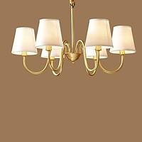 Đèn chùm đồng vàng 6 bóng 6254B