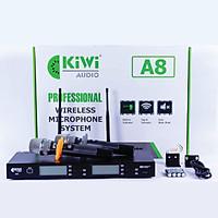 Micro không dây Kiwi A8 tặng kèm Bộ sạc pin Doublepow- Hàng chính hãng
