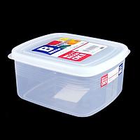 Bộ 2 hộp nhựa nắp kín hình chữ nhật 900ml Nội địa Nhật Bản