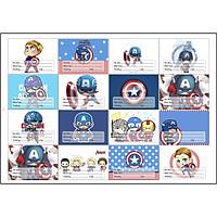 Combo 32 nhãn vở siêu anh hùng / nhãn dán siêu anh hùng