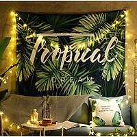Tranh vải treo tường họa tiết tropical trang trí phòng khách,phòng ngủ có tặng kèm móc treo và đèn nháy