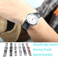 Stylish For Amazfit Bip Watch Braided Nylon Wristband Hand Ring Replacement