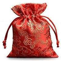 Combo 5 Túi gấm long phụng màu đỏ Thượng Hải phong thủy TÀI LỘC VÀ MAY MẮN