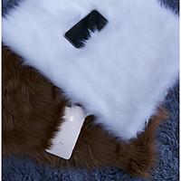Thảm lông chụp hình   lông thú màu trắng 160x200cm