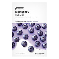 Mặt Nạ Giấy The Face Shop Real Nature Blueberry Face Mask 32500222 (20g)