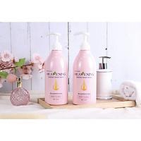 Set 02 chai sữa tắm dưỡng ẩm, làm trắng da toàn thân Hàn Quốc Heavening Perfect 750ml