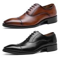 Giày da bò công sở, giày tây big size cỡ lớn cho nam chân to cân đối - GT128