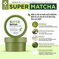 Mặt nạ đất sét dưỡng da và làm sạch lỗ chân lông some by mi super matcha pore clean clay mask 100g