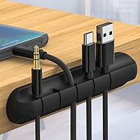 Kẹp silicon giữ cáp sạc điện thoại dán cạnh bàn thương hiệu New Life SSN09- Màu ngẫu nhiên- Hàng chĩnh hãng