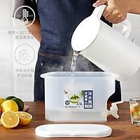 Bình đựng nước, nước hoa quả 3,5l có vòi thiết kế thông minh, để tủ lạnh, nhựa PP an toàn, dễ dàng tháo lắp lau rửa