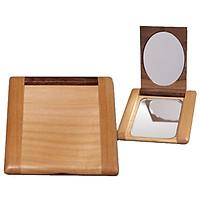 Gương mini vuông với chất liệu bằng gỗ - 70539