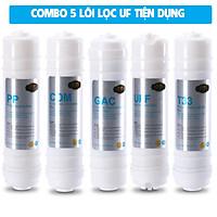Combo 5 lõi lọc cho máy lọc nước tinh khiết UF5 (Ultra Filter) Eurolife COMBO-LL-UF