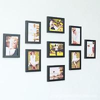 Khung ảnh treo tường trang trí phòng cưới gồm 9 khung