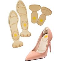 Combo 01 cặp lót giày nguyên bàn chân đa năng và 01 cặp lót giày bảo vệ gót chân 2 trong 1_buybox_BBPK11&09