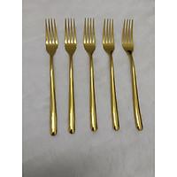 Sét 5 Nĩa Bàn Ăn Cao Cấp - Mạ Vàng