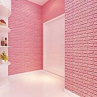 Bộ 20 Xốp Dán Tường 3D Chịu lực, chống nước, chống ẩm mốc 70x77cm DT26 hồng