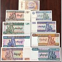 Bộ tiền Myanmar 9 tờ con Lân đem lại may mắn, tặng kèm phơi nilong bảo quản