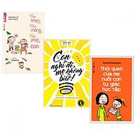 Combo Sách kinh nghiệm làm cha mẹ hay : Cách khen cách mắng cách phạt con +  Con nghĩ đi mẹ không biết + Thói quen của mẹ nuôi con tự giác học tập - Tặng kèm bookmark thiết kế
