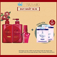 Bộ ba Tsubaki Premium Dưỡng Tóc Bóng Mượt & Bảo Vệ Tóc Trước Tác Hại Của Tia UV (Gội Xả 490ml/chai + Dầu dưỡng tóc 50ml)