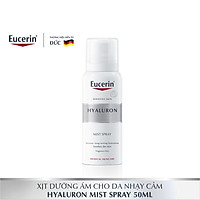 Xịt dưỡng ẩm ngăn ngừa lão hóa Eucerin Hyaluron Mist Spray 50ml