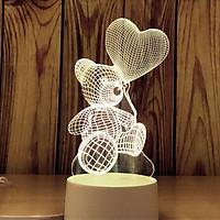 Đèn ngủ 3D hình GẤU BAY