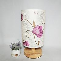 Đèn phòng ngủ - đèn ngủ để bàn - đèn trang trí nội thất phòng ngủ decor TINI hoa hồng