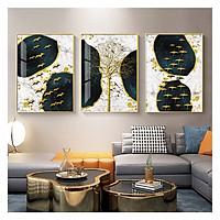 Tranh treo tường Mica Khung nhôm 3 bức Thiên nga về tổ siêu thực tại Hà Tĩnh