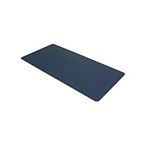 BUBM PU Leather Protector Pad Mouse Pad Mat Desk Writing Mat Waterproof Anti-oil for Office and Home (Sapphire&Yellow,
